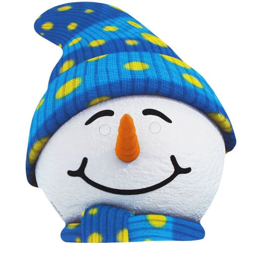 Snowman Cardboard Face Mask Product Image