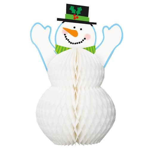 Snowman Honeycomb Decoration - 30cm Product Image