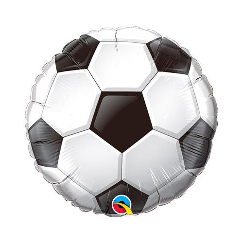 Soccer Ball Air Fill Foil Qualatex Balloon 22cm / 9 in