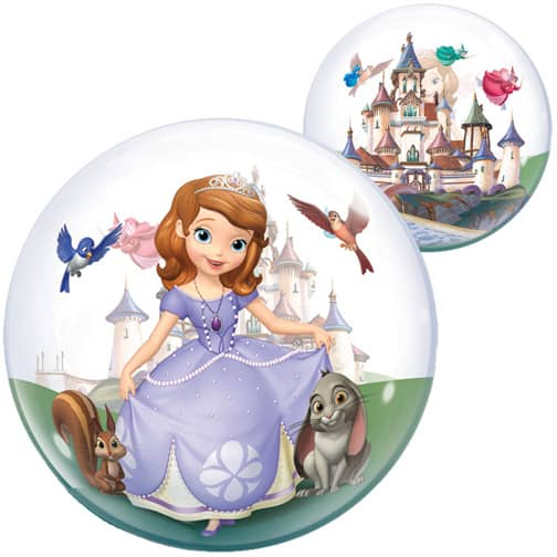 Sofia The First Bubble Helium Qualatex Balloon 56cm / 22 in Product Image