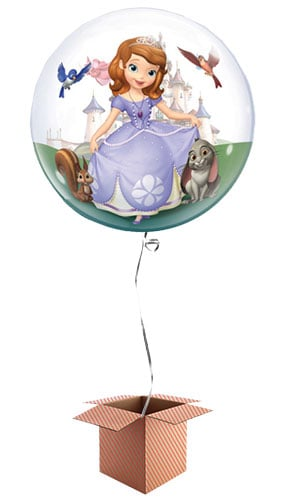 Sofia The First Bubble Helium Qualatex Balloon - Inflated Balloon in a Box Product Image