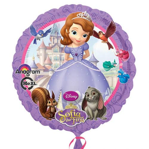 Sofia The First Round Foil Helium Balloon 43cm / 17Inch