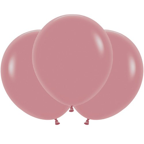 Solid Pink Rosewood Biodegradable Latex Balloons 45cm / 18 in - Pack of 25 Product Image