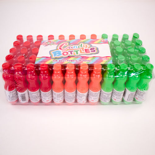 Sour Candy Sweet in Assorted Mini Plastic Bottles 8 Grams - Pack of 60 Product Image