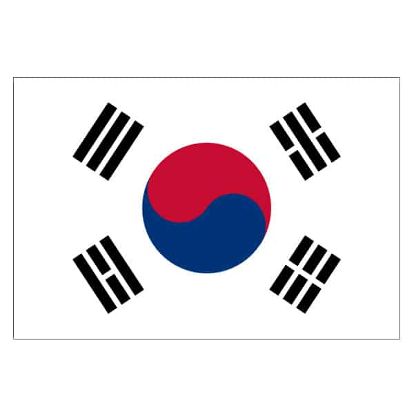 South Korea Flag - 5 x 3 Ft
