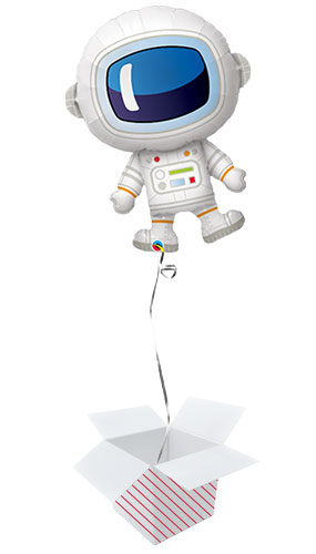 Space Astronaut Helium Foil Giant Qualatex Balloon - Inflated Balloon in a Box Product Image
