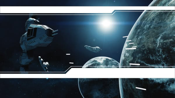 Space Battle Design Small Personalised Banner - 4ft x 2ft