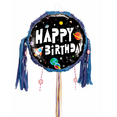 Space Birthday Astronaut Pull String Pinata Product Image