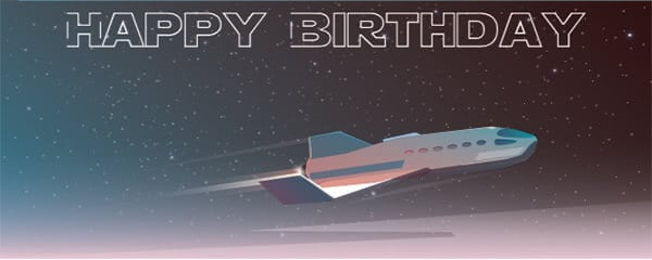 Space Cruiser Design Small Personalised Banner - 4ft x 2ft