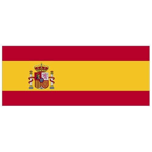 Spain Flag PVC Party Sign Decoration 60cm x 24cm