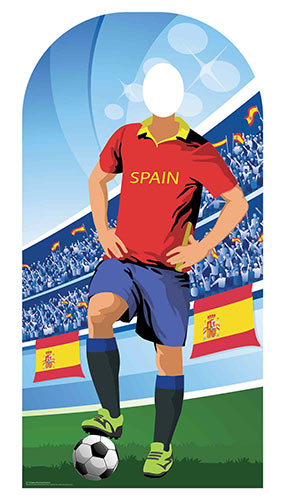 Spain Football Stand-In Cardboard Cutout 190cm Product Image