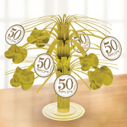 Sparkling Golden Anniversary Cascade Centrepiece 19cm Product Image