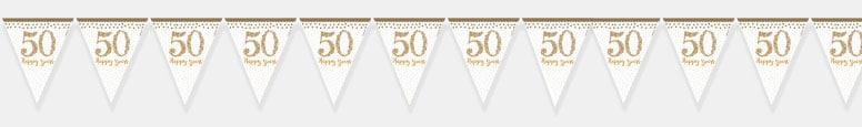 Sparkling Golden Anniversary Prismatic Bunting 400cm Product Image