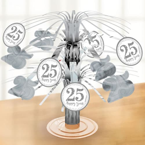 Sparkling Silver Anniversary Cascade Centrepiece Product Image