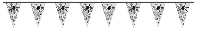 Spider Halloween Plastic Pennant Bunting 6m