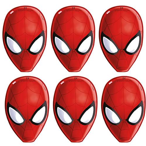 Spider-Man Cardboard Face Masks - Pack of 6