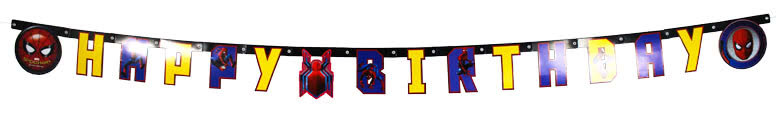 Spider-Man Cardboard Jointed Letter Banner 200cm Product Image