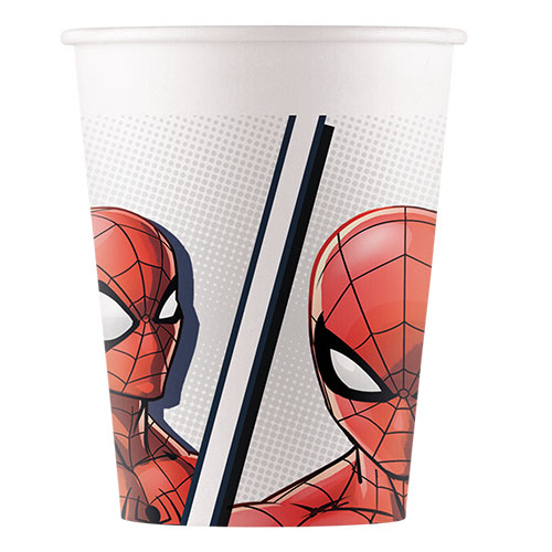 Spider-Man Compostable Paper Cups 200ml - Pack of 8