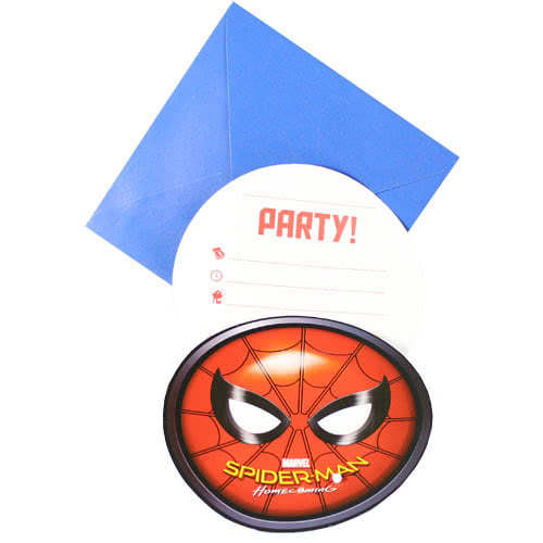 Spider-Man Invitations with Envelopes - Pack of 6