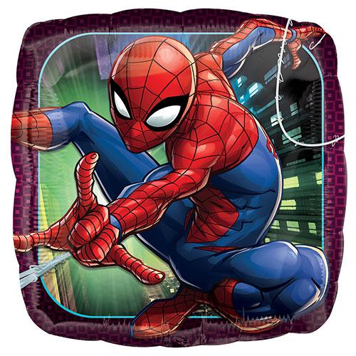 Spider-Man Square Foil Helium Balloon 43cm / 17Inch