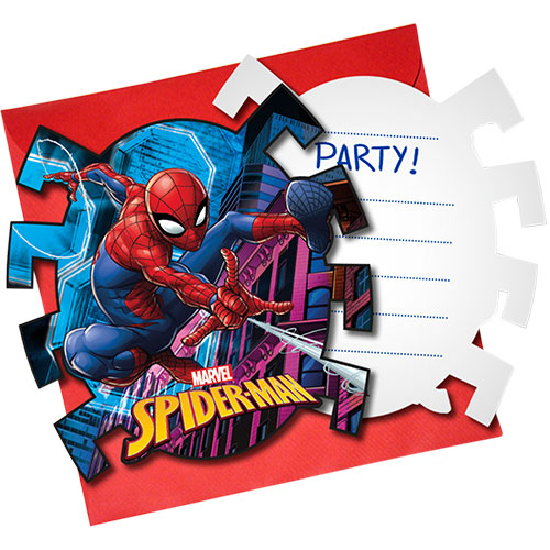 Spider-Man Team Up Invitations with Envelopes - Pack of 6