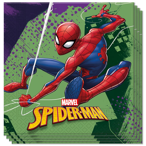 Spider-Man Team Up Luncheon Napkins 33cm 2Ply - Pack of 20