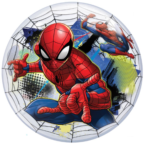 Spider-Man Web Bubble Helium Qualatex Balloon 56cm / 22 in Product Gallery Image