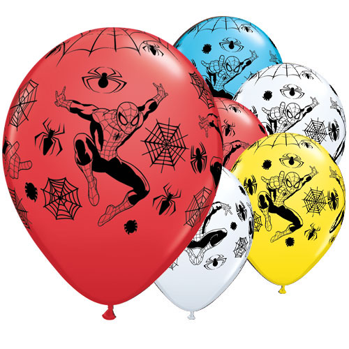 Spider-Man Assorted Latex Helium Qualatex Balloons 28cm / 11 in - Pack of 25 Product Image