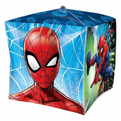Spider-Man Cubez Foil Helium Balloon 38cm / 15 in Product Gallery Image