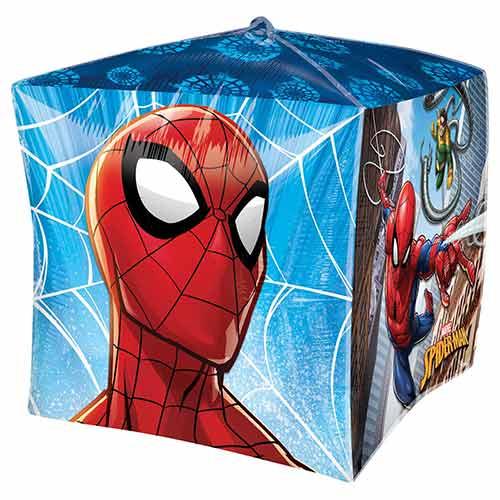 Spider-Man Cubez Foil Helium Balloon 38cm / 15 in