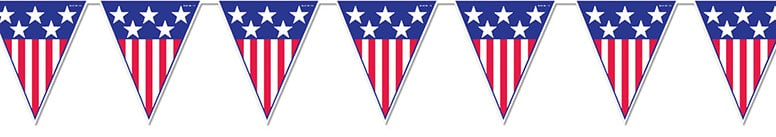 Spirit of America Pennant Flag Banner - 12 Ft / 366cm