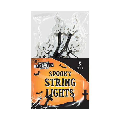 Spooky Ghost Halloween String Lights Decorations 150cm