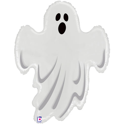 Spooky Ghost Halloween Clear Helium Foil Giant Balloon 79cm / 31 in Product Image