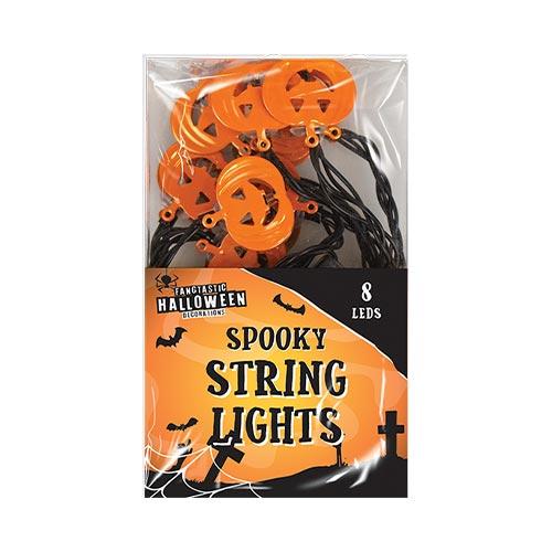 Spooky Pumpkin Halloween String Lights Decorations 150cm Product Image