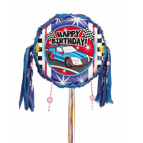 Sports Car Birthday Pull String Pinata Product Image