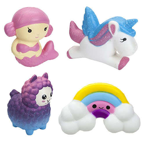 Squeeze And Squishy Magical Assorted Stress Relief Pastel Toys 11cm