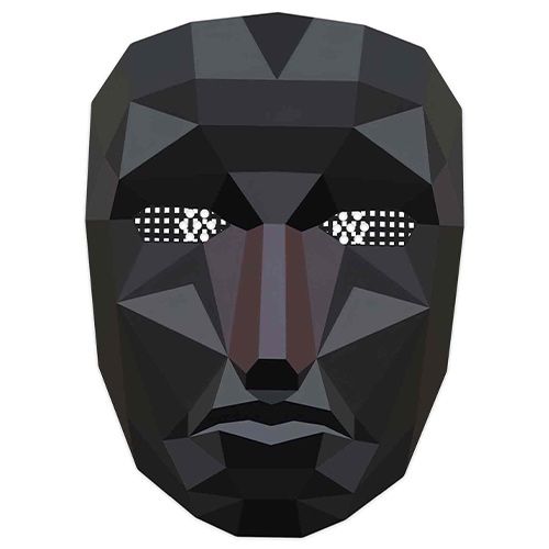 Squid Game Inspired Polygon Cardboard Face Mask