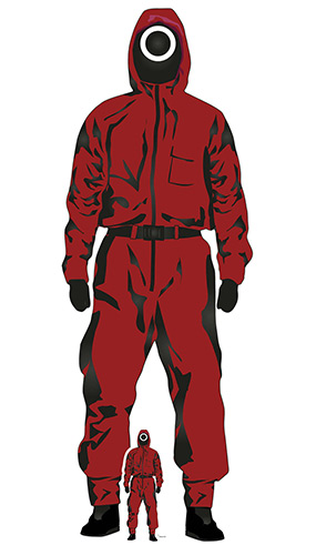 Squid Game Inspired Red Jumpsuit Lifesize Cardboard Cutout 183cm