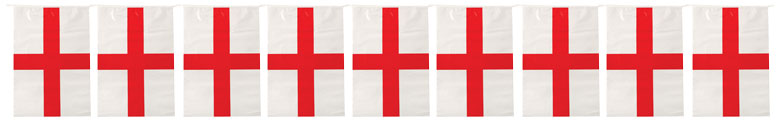 England St George's Day Plastic Flag Bunting 4m Product Image