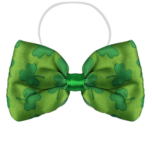 St Patricks Day Bow Tie With Shamrocks Product Image