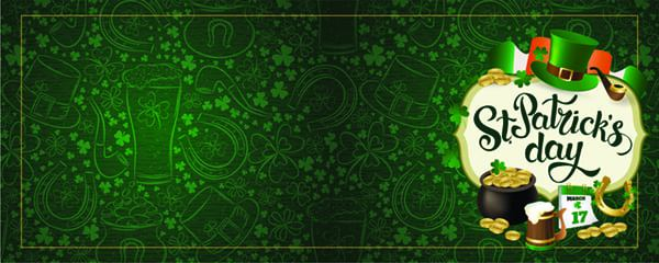 St Patricks Day Celebration Design Small Personalised Banner - 4ft x 2ft