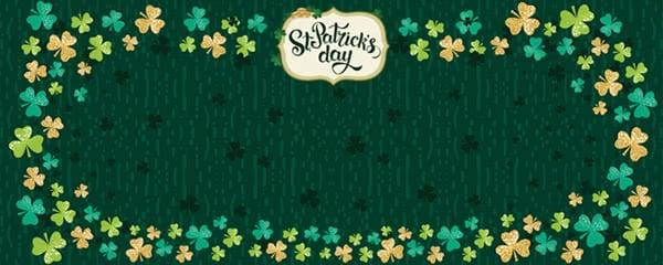 St Patricks Day Multicolour Shamrock Design Small Personalised Banner - 4ft x 2ft