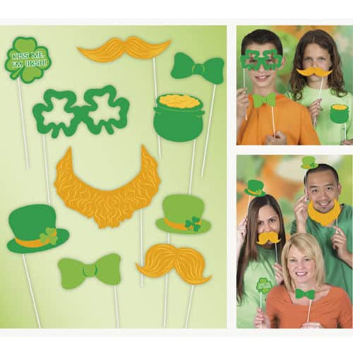 St Patricks Day Photo Prop - Pack of 10