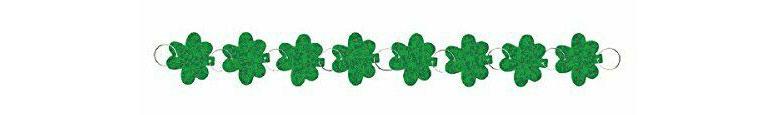St. Patrick's Day Shamrock Holographic Ring Garland 274cm