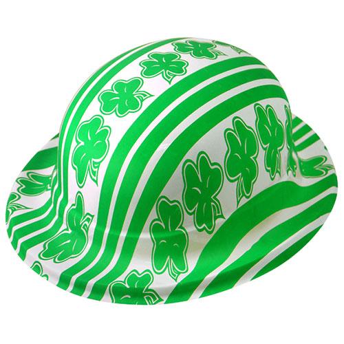 St Patricks Day Shamrock Plastic Bowler Hat