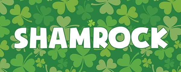 St. Patrick's Day Shamrock PVC Party Sign Decoration 60cm x 25cm Product Image