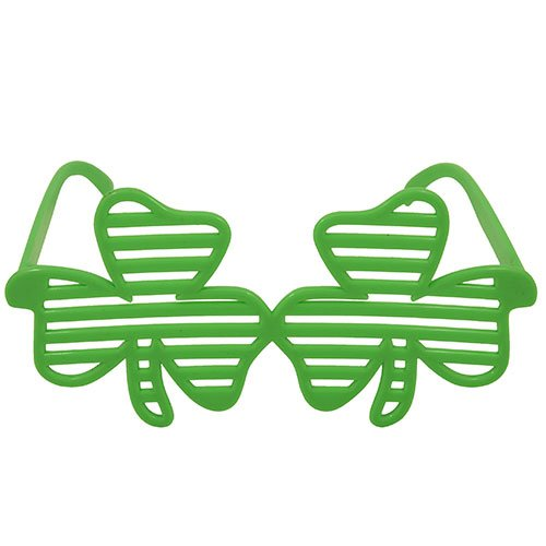 St Patricks Day Shamrock Shutter Plastic Glasses
