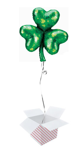 St. Patrick's Day Shamrock Helium Foil Giant Balloon - Inflated Balloon in a Box