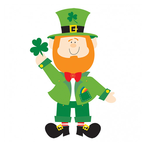 St. Patrick's Leprechaun Jointed Cardboard Cutout 89cm Product Image