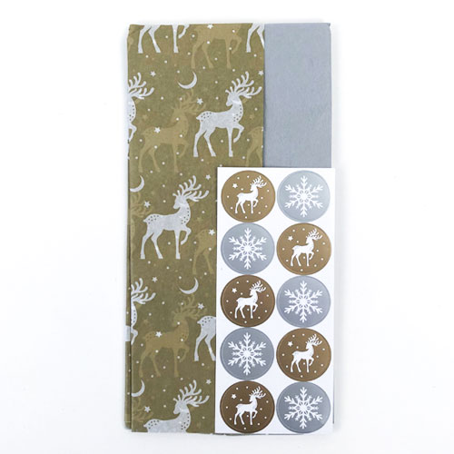 Stag Assorted Christmas Tissue Paper - Pack of 10 Product Image
